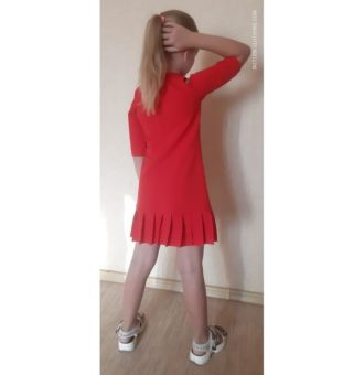 PDF pattern of pleated girl dress for special occasions-patterns-clothing.com