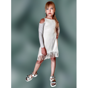 Fringe hem ethnic dress. PDF Sewing Patterns