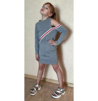 The suit pattern for a girl in sport-elegant style - for download PDF-patterns-clothing.com