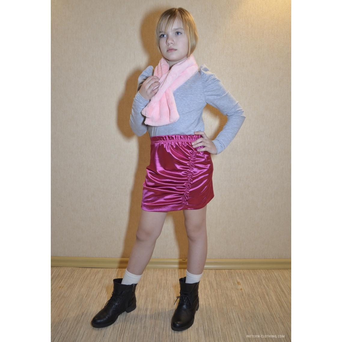 Asymmetric Skirt With Drapes Helen Sewing Patterns
